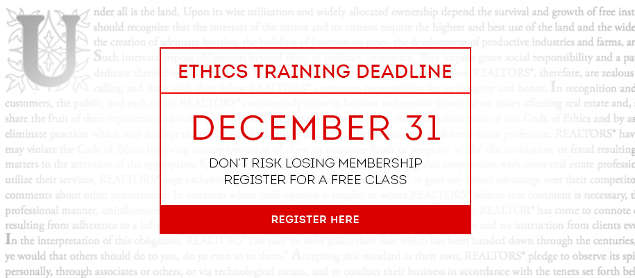 Ethics Training Deadline